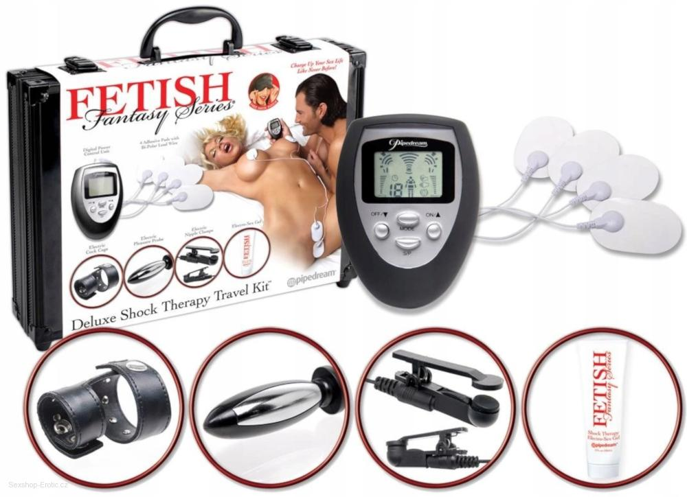 Elektrosex Sada Fetish Collection Shock Therapy Travel Kit