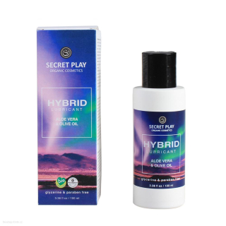 Lubrikační gel Vegan SECRET PLAY Hybrid Aloe Vera and Olive oil 100 ml