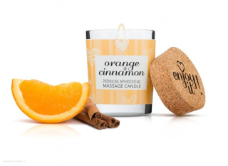 Masážní svíčka MAGNETIFICO - ENJOY IT! Orange and Cinnamon 70 ml