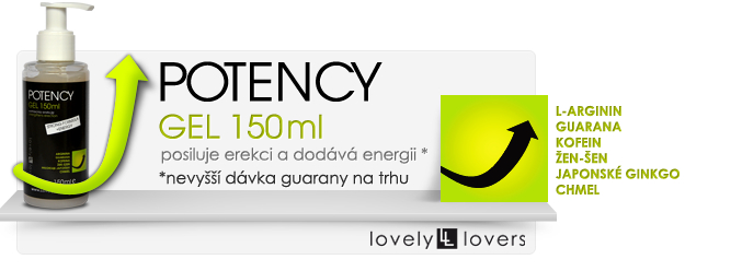 Gel na podporu erekce potency 150ml