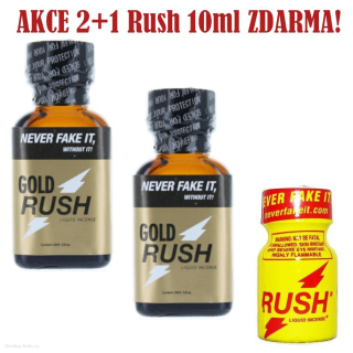 Poppers Rush Gold 24ml AKCE 2+1 Zdarma